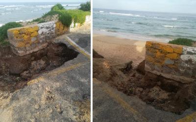 The hole at Middle Beach Car Park