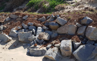 Middle beach wall update
